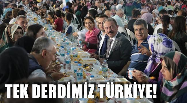 TEK DERDİMİZ TÜRKİYE!