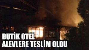 Butik otelde çıkan yangın korkuttu