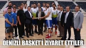 Denizli Basket'i ziyaret ettiler