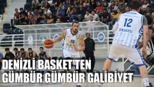 Denizli Basket'ten gümbür gümbür galibiyet