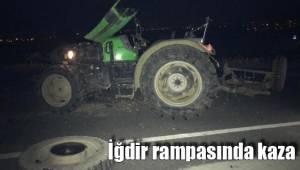İğdir rampasında kaza