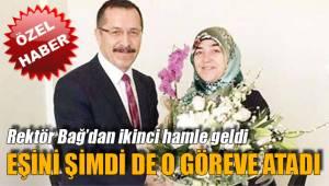 Rektör Bağ, eşini yeniden görevlendirdi