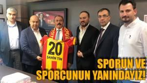 Sporun ve sporcunun yanındayız!