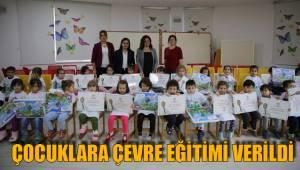 Çocuklara çevre eğitimi verildi