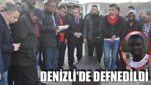 Nijeryalı futbolcu Denizli'de defnedildi