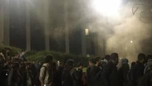 Pamukkale Üniversitesi'nde yangın paniği