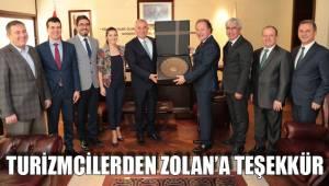 Turizmcilerden Zolan'a teşekkür