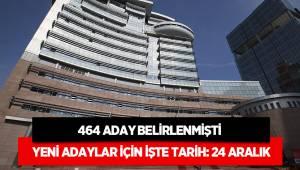 CHP'de çok sayıda aday 24 Aralık'ta açıklanacak