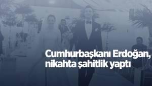 Cumhurbaşkanı Erdoğan, nikahta şahitlik yaptı