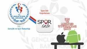 Spor İzle Uygulaması Yayında