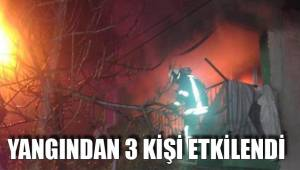 Yangından 3 kişi etkilendi
