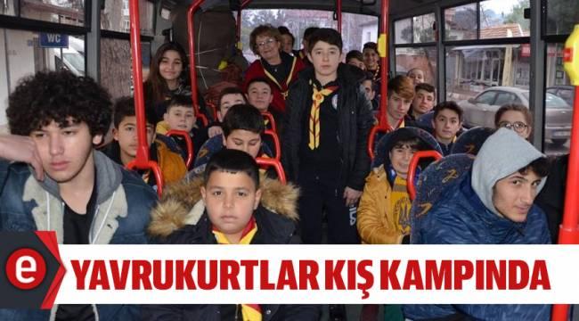 ÇELİK YAVRUKURTLARI KIŞ KAMPINA UĞURLADI