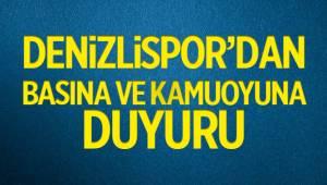 DENİZLİSPOR'DAN KAMUOYUNA DUYURU