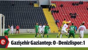 Gazişehir Gaziantep: 0 - Denizlispor: 1