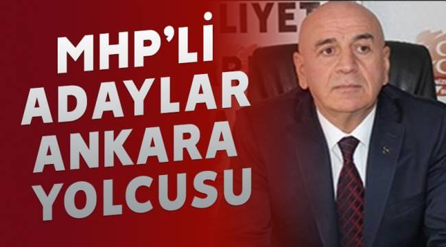MHP'Lİ ADAYLAR ANKARA YOLCUSU