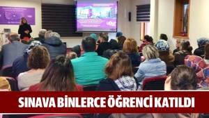 SINAVA BİNLERCE ÖĞRENCİ KATILDI