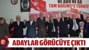 Vatan partisi Denizli ilçe belediye başkan adaylarını görücüye çıkardı.