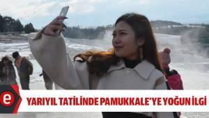 Yarıyıl tatilinde Pamukkale'ye yoğun ilgi