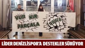 Kadın resim öğretmeninden Denizlispor'a destek