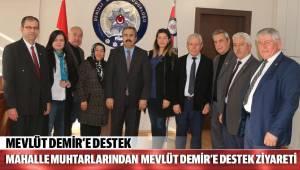 Mahalle muhtarlarından Mevlüt Demir'e destek ziyareti