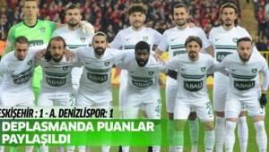 Spor Toto 1. Lig: Eskişehirspor: 1 - Abalı Denizlispor: 1