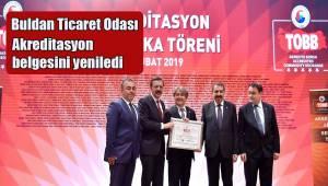 Buldan Ticaret Odası akreditasyon belgesini yeniledi