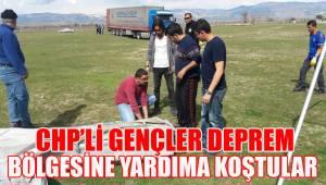 CHP'Lİ GENÇLER DEPREM BÖLGESİNDE YARDIMA KOŞTULAR