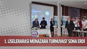 DENİZLİ'DE '1. LİSELERARASI MÜNAZARA TURNUVASI' SONA ERDİ