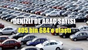 Denizli'de araç sayısı 405 bin 684'e ulaştı
