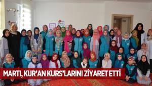 MARTI, KUR'AN KURS'LARINI ZİYARET ETTİ