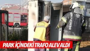 PARK İÇİNDEKİ TRAFO ALEV ALDI