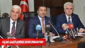 UÇAK SAATLERİNE DOKUNMAYIN!