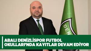 ABALI DENİZLİSPOR FUTBOL OKULLARI'NDA KAYITLAR DEVAM EDİYOR