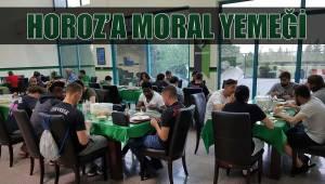 Horoz'a moral yemeği