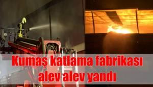 Kumaş katlama fabrikasında yangın