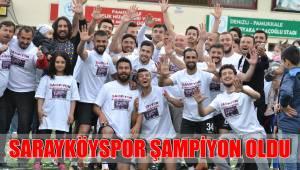 SARAYKÖYSPOR ŞAMPİYON OLDU