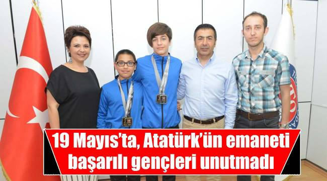 19 Mayıs'ta, Atatürk'ün emaneti başarılı gençleri unutmadı