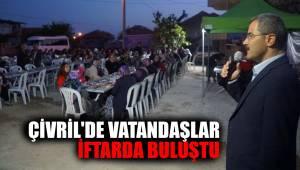 ÇİVRİL'DE VATANDAŞLAR İFTARDA BULUŞTU