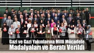 Gazi ve Gazi Yakınlarımıza Milli Mücadele Madalyaları ve Beratı Verildi