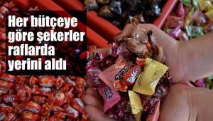 Her bütçeye göre şekerler raflarda yerini aldı