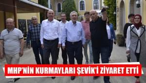 MHP'NİN KURMAYLARI ŞEVİK'İ ZİYARET ETTİ