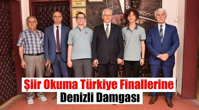Şiir Okuma Türkiye Finallerine Denizli Damgası