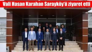 Vali Hasan Karahan Sarayköy'ü ziyaret etti