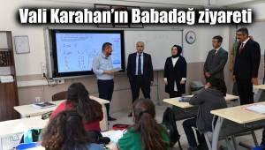 Vali Karahan'ın Babadağ ziyareti