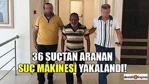 36 Suçtan aranan suç makinesi yakalandı!