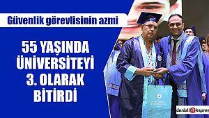 55 Yaşında Üniversiteyi 3. olarak bitirdi