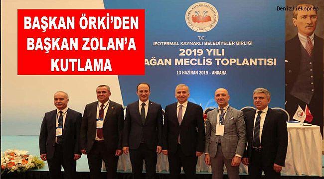 BAŞKAN ÖRKİ'DEN BAŞKAN ZOLAN'A KUTLAMA