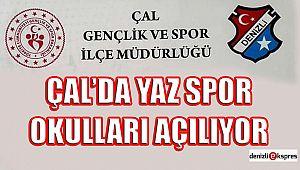 Çal'da yaz spor okulları açılıyor