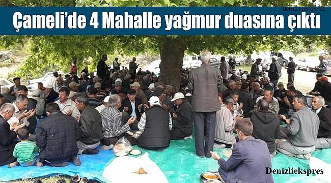Çameli'de 4 Mahalle yağmur duasına çıktı