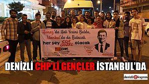 DENİZLİ CHP'Lİ GENÇLER İSTANBUL'DA